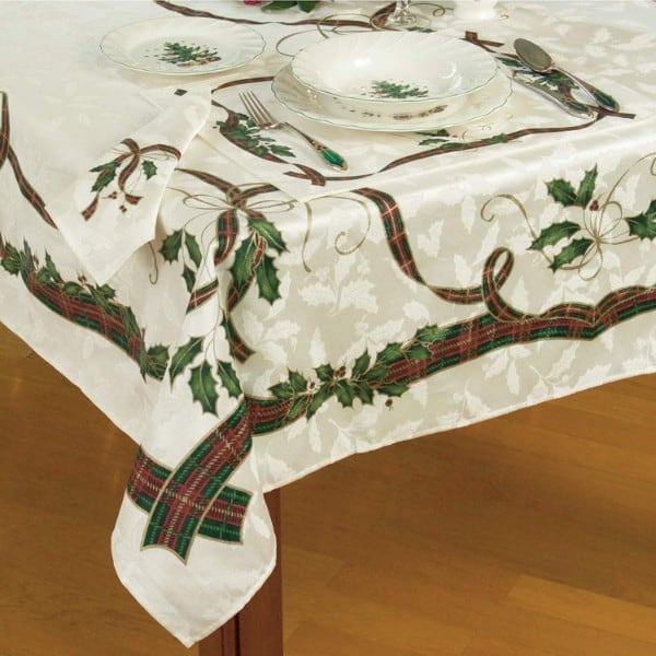Lenox Holiday Nouveau Christmas Tablecloth
