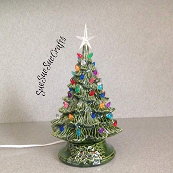 Ceramic Christmas Tree 11 tall Christmas