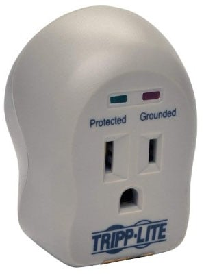 Tripp Lite 1 Outlet Portable Surge Protector Power Strip