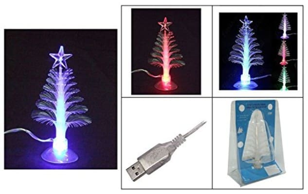 #7. ZERO121 Colorful Christmas Tree Mini Christmas Tree USB Christmas Tree