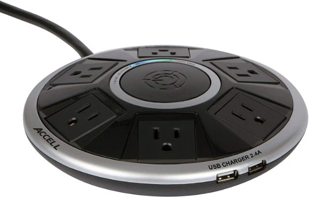 Accell Powramid Air - Slim 6-Outlet Surge Protector