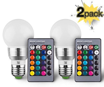 KOBRA LED Bulb Color Changing Light Bulb with Remote Control