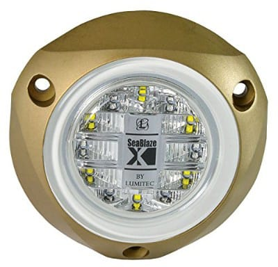 Lumitec SeaBlazeX LED Underwater Boat Light, Surface Mount