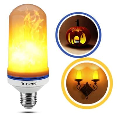 Texsens LED Flame Effect Light Bulb