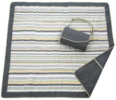 JJ Cole Outdoor Blanket, Gray:Green, 5' x 5'
