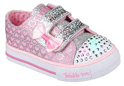 Skechers Kids Twinkle Toes Shuffles Sweet Steps Light-Up Sneaker