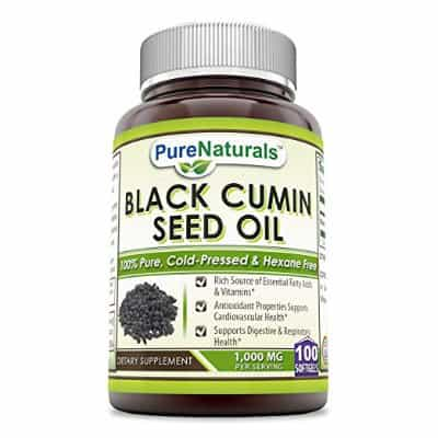 Pure Naturals 100% Pure Black Cumin Seed Oil 1000 Mg
