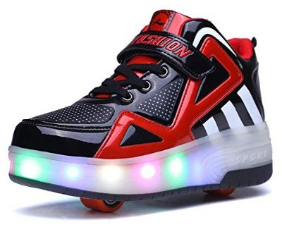Ufatansy Uforme Kids Boys Girls High-Top Shoes LED Light Up Sneakers