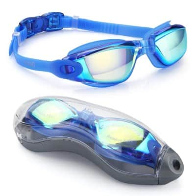 Aegend Swim Goggles, Swimming Goggles No Leaking Anti Fog UV Protection
