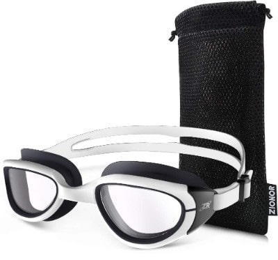Zionor Swimming Goggles, G1 Polarized Swim Goggles with Mirror:Smoke Lens