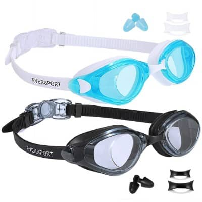 EVERSPORT Swim Goggles, Pack of 2, Swimming Glasses for Adult Men Women