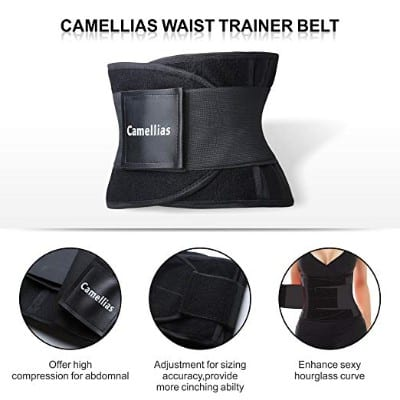 SHAPERX Camellias Waist Trainer Belt Body Shaper Belly Wrap Trimmer