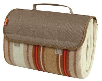 Yodo Outdoor Water-Resistant Picnic Blanket Tote, Spring Summer Stripe