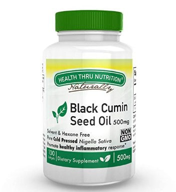 Health Thru Nutrition Black Cumin Seed Oil Non-GMO 500Mg Softgels First Cold Pressed