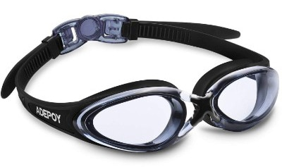 AdePoy Swim Goggles, No Leaking Anti Fog UV Protection Swimming