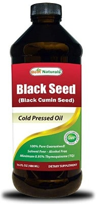 Best Naturals Black Seed Oil 16 OZ - Cold Pressed