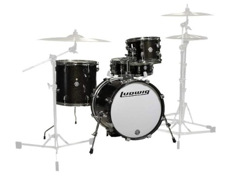 Ludwig LC179X016 Breakbeats 4 Piece Shell Pack with Riser