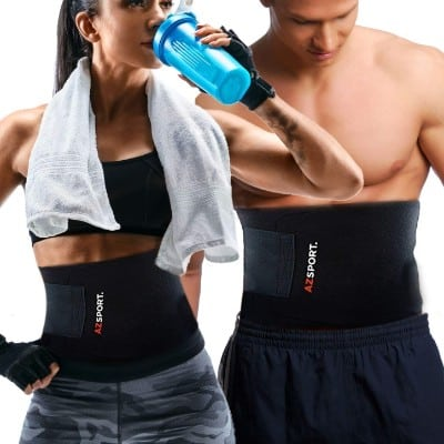 AZSPORT Waist Trimmer - Adjustable Ab Sauna Belt to shed The Excess Water