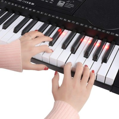 Joy KL-91M With USB & 61 Lighted Keys Simulation Piano Keyboard