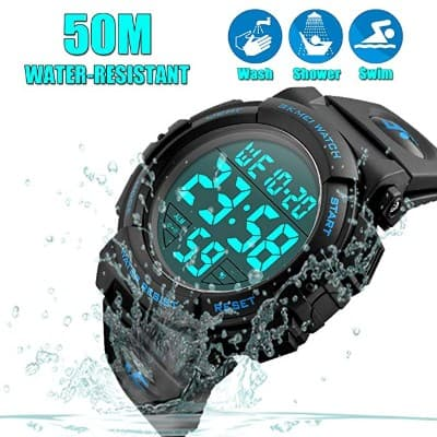 Men's Digital Sports Watch LED Military 50M Waterproof Watches Outdoor Electronic Army Alarm