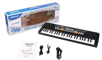 aPerfectLife Chargeable Piano Keyboard for Kids, 49 Keys Multi-Function Electronic Kids Piano