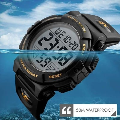 EOBP Multi-function Sport Watch 50M Waterproof LED Backlight Electronic Watch