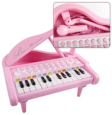 Mini Piano for 1 2 3 4-Year-Old Girls, 24 Key Grand Keyboard Piano Music Keyboard Toys