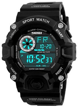 Men's Digital Sports Watches Waterproof LED Military Wrist Stop Watch for Men