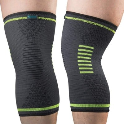 Sable Knee Brace Compression Sleeves 2 Pack FDA Approved, Support for Arthritis, ACL, Running