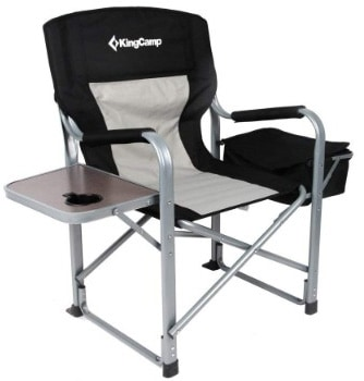 KingCamp Heavy Duty Steel Folding Chair:Director's Chair with Cooler Bag