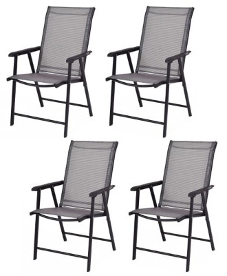 Giantex 4-Pack Patio Folding Chairs Portable for Outdoor Camping, Beach, Deck