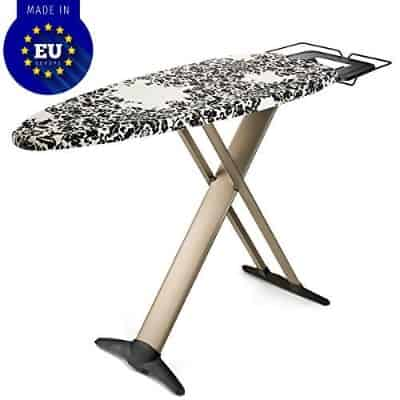 """Bartnelli Pro Luxery Extra Wide Ironing Board 51x19"""", Steam Iron Rest"""