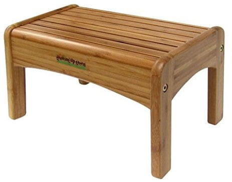 Growing Up Green Bamboo Wooden Step Stool