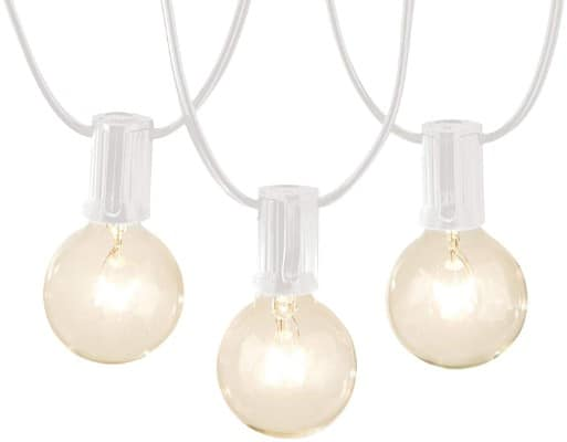 AmazonBasics Patio Lights, White