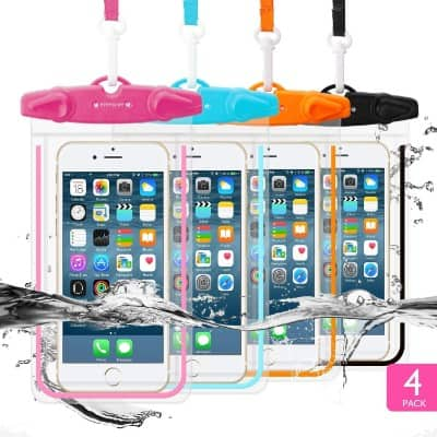 4 Pack Universal Waterproof Case FITFORT Cell Phone Dry Bag:Pouch