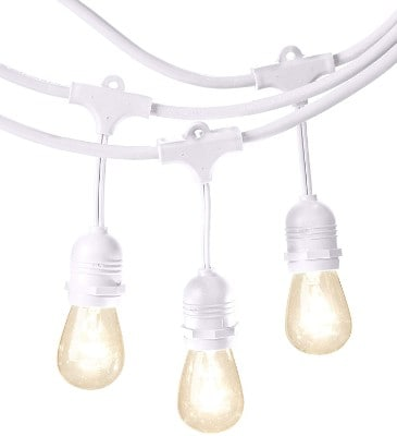 AmazonBasics Weatherproof Outdoor Patio String Lights S14 Bulb