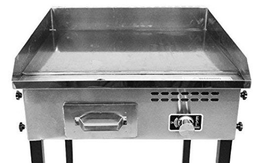 Bioexcel Taco Cart with 21 x 16 Stainless Steel Griddle