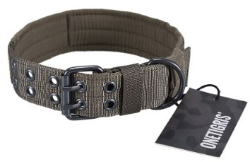 OneTigris Military Adjustable Dog Collar with Metal D Ring & Buckle