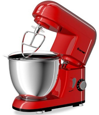 Costway Tilt-head Stand Mixer 4.3Qt 6-Speed 120V:550W Electric Food Mixer w:Stainless Steel