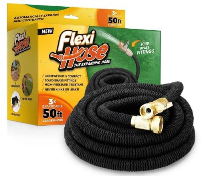 Flexi Hose Upgraded Expandable 50 FT Garden Hose, Extra Strength