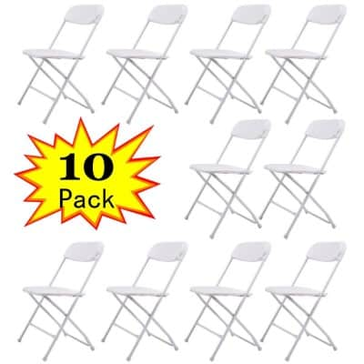 JAXPETY 10PCS Plastic Folding Chairs