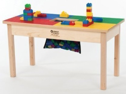 LEGO COMPATIBLE TABLE 32x16 Solid Hardwood Legs and Side Frames