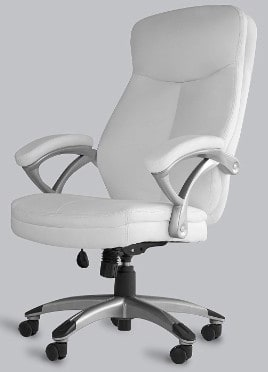 OFFICE FACTOR White Leather Office Chair