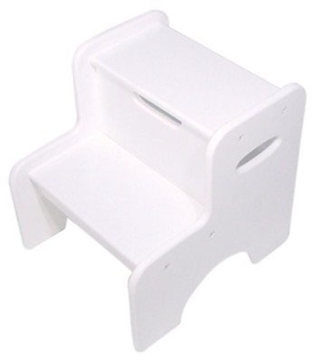 Two-Step Stool - White
