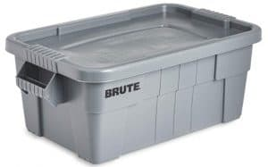 Rubbermaid Commercial Products BRUTE Tote Storage Container with Lid