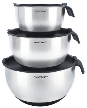 AVACRAFT 18:10 Stainless Steel Mixing Bowl Set