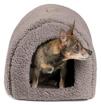 Best Friends by Sheri Pet Igloo Hut, Sherpa : Ilan : Lux - Cat and Small Dog Bed
