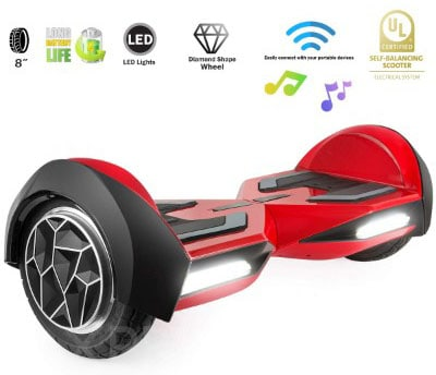 XPRIT 8 Self-Balancing Hoverboard Outdoor and Street Type w:Bluetooth Speaker