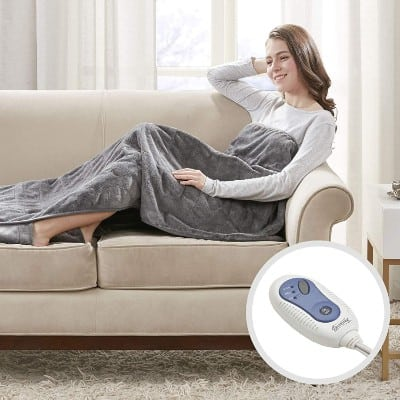 Beautyrest - Heated Electric Throw with Foot Pocket#6. Beautyrest - Heated Electric Throw with Foot Pocket