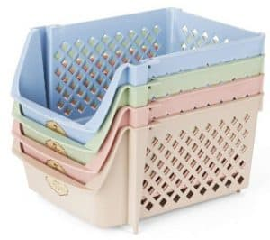 Titan Mall Stackable Storage Bins